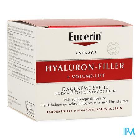 Afbeelding Eucerin Hyaluron-Filler + Volume-Lift Dagcrème met SPF 15 voor Normale tot Gemengde Huid Pot 50 ml.