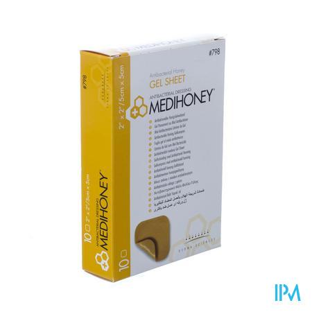 Medihoney Gel Sheet Dressing 5cm x 5cm 10 stuks