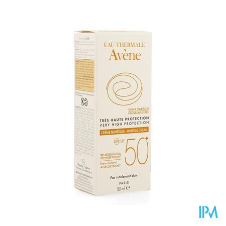 Afbeelding Avène Waterproof Minerale Zonnecrème met SPF 50+ zonder Parfum Tube 50 ml.