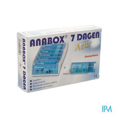 Anabox Pillendoos 7 Dagen Azur Nederlands 1 stuk