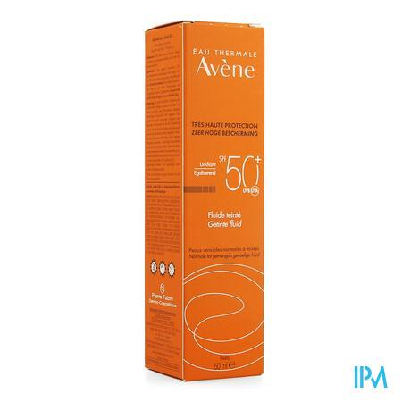 Afbeelding Avène Waterbestendige Getinte Zonnefluide met SPF 50+ voor Normale tot Gemengde Huid Tube 50 ml.