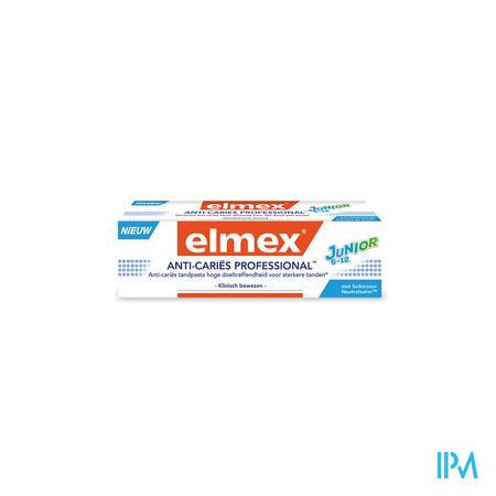 Afbeelding Elmex Anti-Cariës Professional Junior Anti-Cariës Tandpasta voor Sterkere Tanden voor Kinderen van 6-12 Jaar 75 ml.