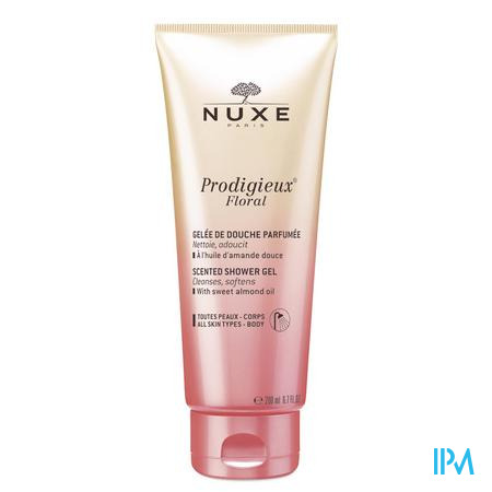 Afbeelding Nuxe Prodigieux Floral Reinigende en Verzachtende Geparfumeerde Douchegel voor Alle Huidtypes voor Lichaam Tube 200 ml.