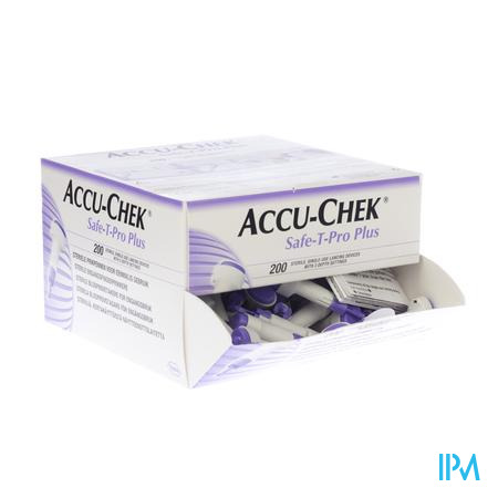 Accu Chek Safe T Pro Plus Steriel Wegwerp 200