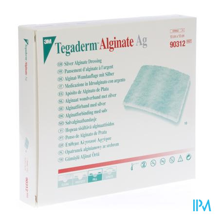 3M Tegaderm Alginate Ag 10 x 10Cm 90312 10 stuks