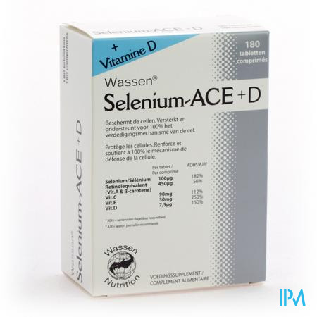 Farmawebshop - SELENIUM ACE+ D 180 tabletten
