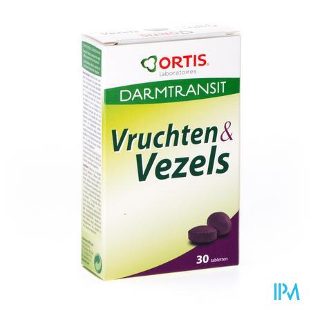 Ortis Darmtransit Vruchten & Vezels Gemakkelijke Transit 30 tabletten