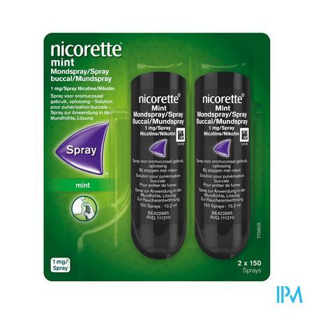 NICORETTE MINT SPRAY BUCCAL 2X150 SPRAYS 1MG/SPRAY (médicament)