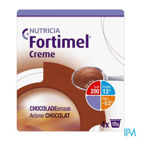 Fortimel Creme Chocolade 4x125 gr  -  Nutricia