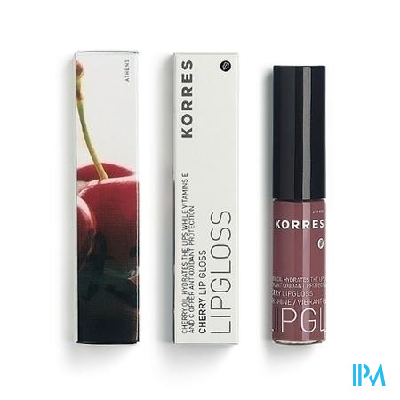 Afbeelding Korres Cherry Lipgloss n°25 Natural Purple 6 ml.