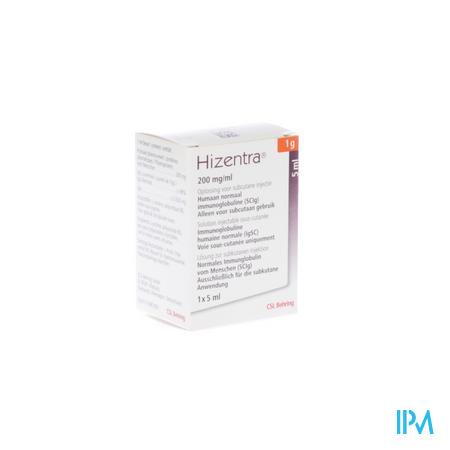 Hizentra 200mg/ml Sol Inj 1g/ 5ml