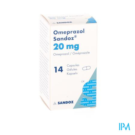 OMEPRAZOL SANDOZ CAPS ENTER 14 X 20 MG