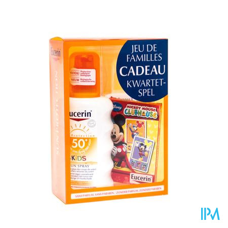 Eucerin Sun Kids SPF50 Spray + Kwartetspel GRATIS 200 ml