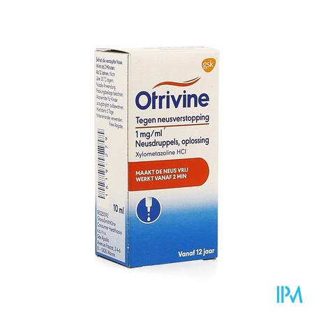Otrivine Hydrat 1 0/00 Druppels 10 ml