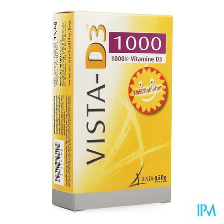Afbeelding Vista-D3 1000 IE Vitamine D3 120 Smelttabletten.