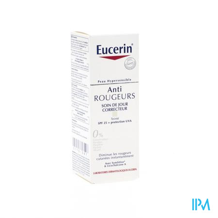 Afbeelding Eucerin Anti Redness Groen Getinte Corrigerende Dagcrème met SPF 25 voor Directe Verlichting en Vermindering van Roodheid 50 ml.