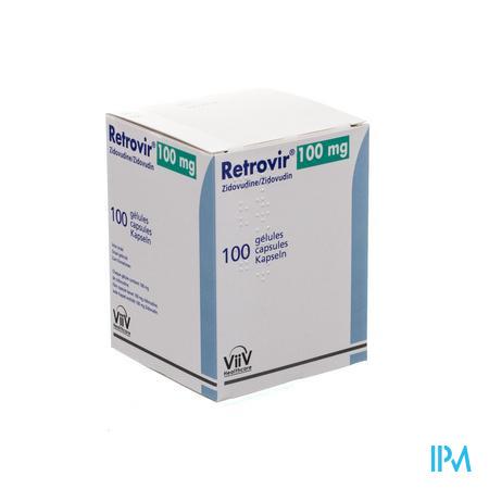 Retrovir Caps 100 X 100mg