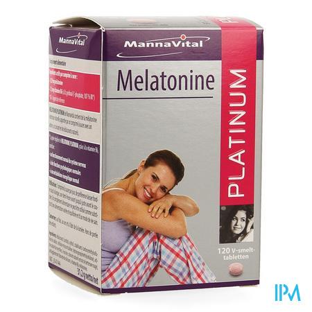 Mannavital Melatonine V-smelttabl 120