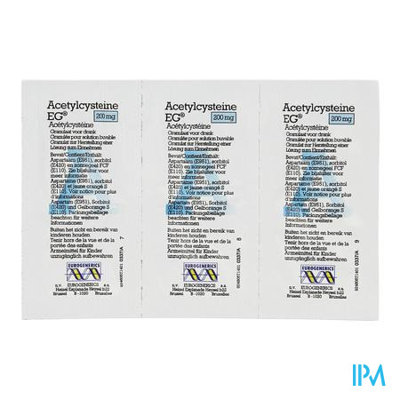 Acetylcysteine EG Sachets 30x200 mg  -  EG