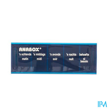 Anabox Pillbox 1 Dag 5 Vakken Nederlands 1 stuk