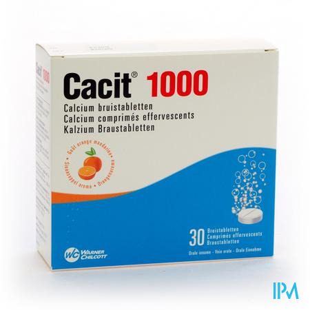 Cacit 1000 Bruistabletten Tube 30 X 1000 mg