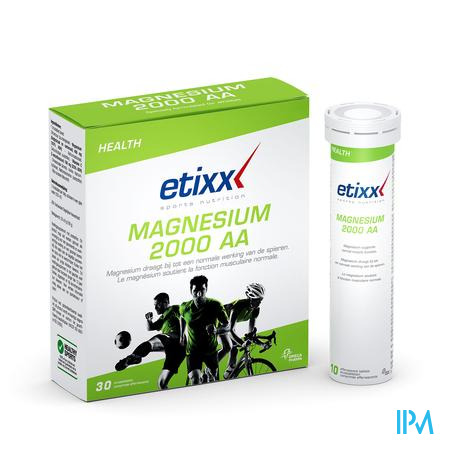 Afbeelding Etixx Magnesium 2000 AA 30 Bruistabletten.
