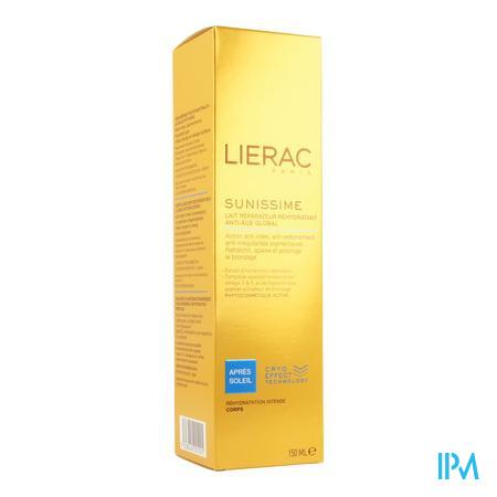 Afbeelding Lierac Sunissime Herstellende Rehydraterende After-Sun Melk met Globale Anti-Ageing voor Lichaam 150 ml.