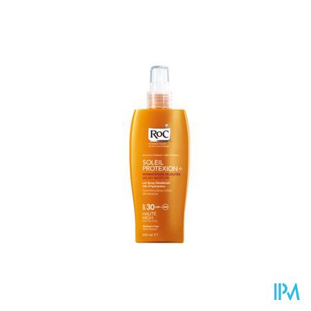 Afbeelding Roc Soleil Protexion Verfrissende Zonnemelk met SPF 30 voor 24 uur Hydratatie Spray 200 ml.