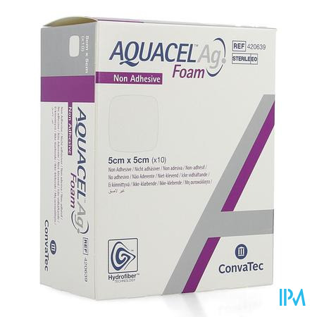 Aquacel Ag Foam Non Adhesief 5x5cm 10