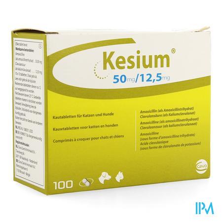 Kesium 50/12,5mg Kauwtabl Kat Hond 100