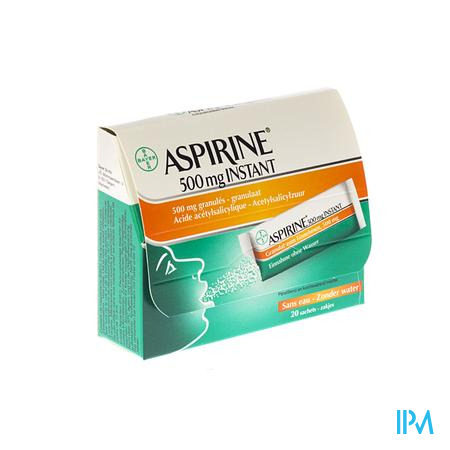 Aspirine Instant 500 mg 20 zakjes