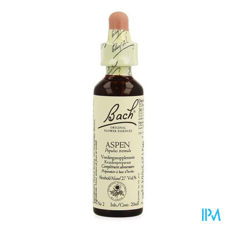 Bach Flower Remedie 02 Aspen 20 ml  -  Ts Reform