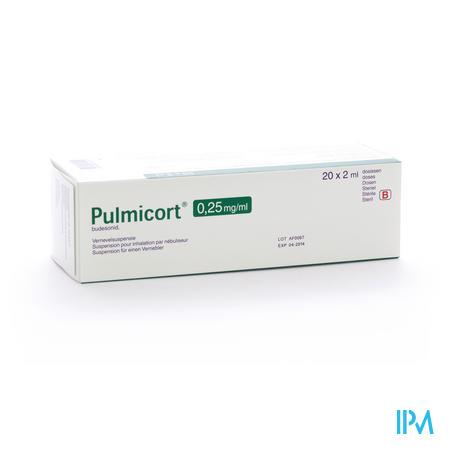 Pulmicort Susp Pour Neb. 0,25mg/ml 20x2ml