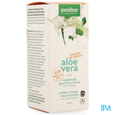 Aloe Vera Voedende Gezichtscreme 50ml