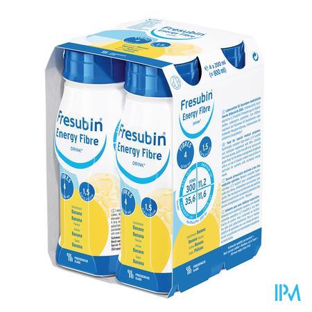 Fresubin Energy Fibre Drink 200 ml Banane/banaan