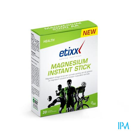 Afbeelding Etixx Magnesium Instant 30 Sticks.