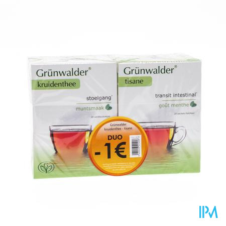 Grunwalder Transit Thé Munt -1€ 2 x 20 sachets