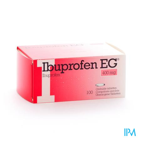Farmawebshop - IBUPROFEN EG 400mg 100 tabletten