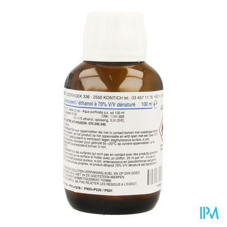 Alcool Desinf. 70% Fraver Liq 100 ml  -  Fraver