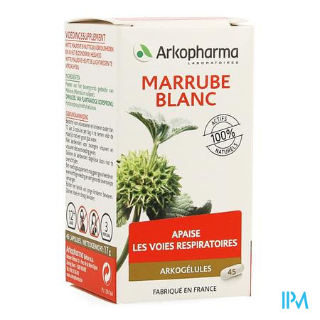 Arkogelules Marrube Blanc Vegetal 45  -  Arkopharma