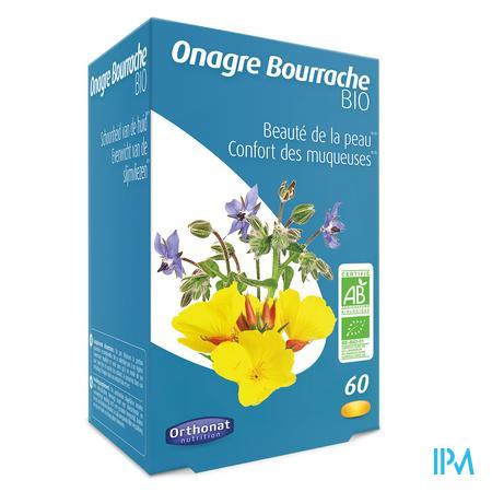 Onagre Bourrache Bio Caps 60 Orthonat