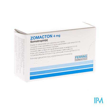 Zomacton Fl Inj 1x 4mg+solv
