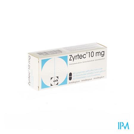 Zyrtec Pi Pharma Comp Pell 40 X 10mg Pip