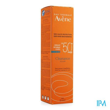 Afbeelding Avène Cleanance Waterproof Matterende Zonnebescherming met SPF 50+ voor Vette Huid met Imperfecties Tube 50 ml.