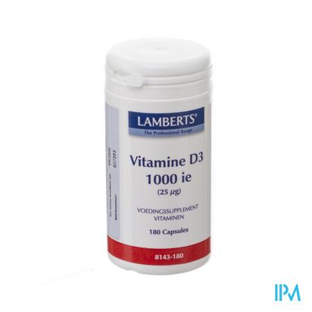 Lamberts Vitamine D 1000ie 25mcg Tabl 180