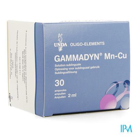 Gammadyn Ampullen 30 X 2 ml Mn-cu  -  Unda - Boiron
