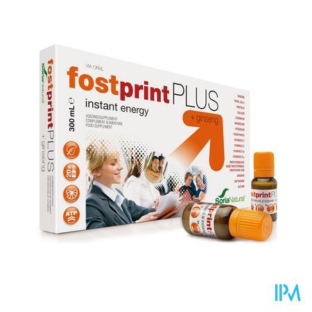 Afbeelding Soria FostPrint Plus Instant Energy met Ginseng Ampullen 20 x 15 ml.