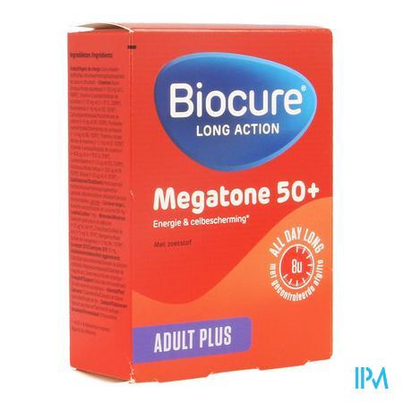 Afbeelding Biocure Long Action Megatone 50+ Adult Plus 30 Tabletten.