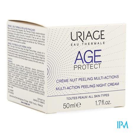 Afbeelding Uriage Age Protect Multi-Action Peeling Nachtcrème voor Alle Huidtypes Pot 50 ml.