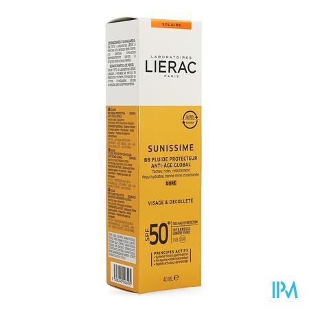 Lierac Sunissime Bb Fluid Dore Visage Ip50 Tb 40ml